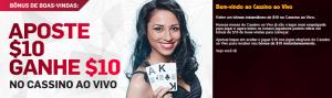 Aposte $10 e ganhe mais $10 em casino