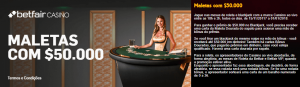 Jogue Live Casino e habilite-se a prémios de $50.000 em dinheiro