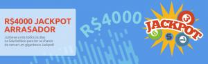 Jogue bingo e habilite-se a ganhar o Jackpot Arrasador de R$4000