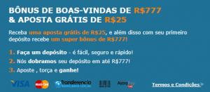 Fique a conhecer as vantagens do Rivalo Bônus 2019:duplique gratuitamente o valor do primeiro depósito até um máximo de R$777