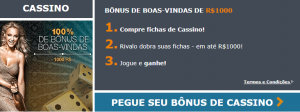 Ganhe um Bônus de Boas-Vindas em Casino de 100% até R$ 1000