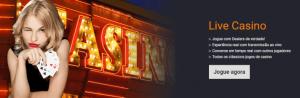 Jogo live casino com dealers reais