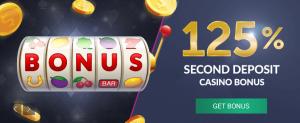 Ganhe um vbet bônus de 125% até 300€ sobre o segundo depósito em casino